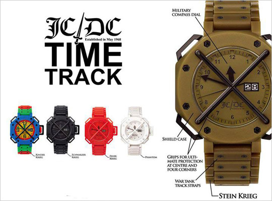 "Jean-Charles de Castelbajac ""Time Track"" Watches"
