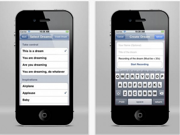 Aplikasi iPhone Pengatur Mimpi