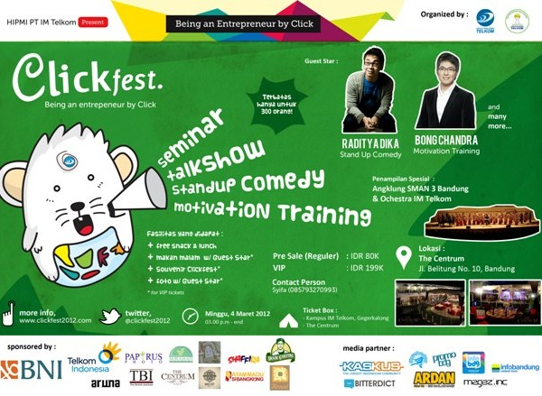 "Clickfest 2012 ""being an entrepreneur by a click"""